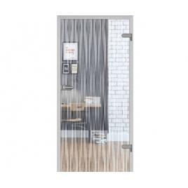 Drzwi szklane wewnętrzne DRE Galla 11 Przeźroczysta