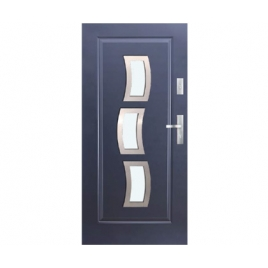Drzwi zewnętrzne KMT Stal Plus 54 Wzór 10s3 Inox