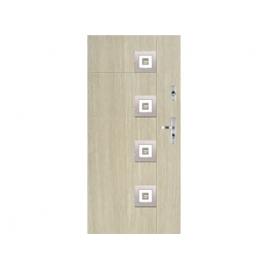 Drzwi zewnętrzne KMT Stal Plus 75 Wzór 14s1 Inox