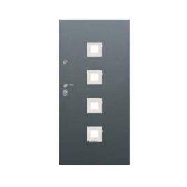 Drzwi zewnętrzne Delta Universal 56S Gładkie Kwadrat'4 Inox