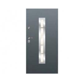 Drzwi zewnętrzne Delta Perfect 68X Gładkie Drabinka Inox